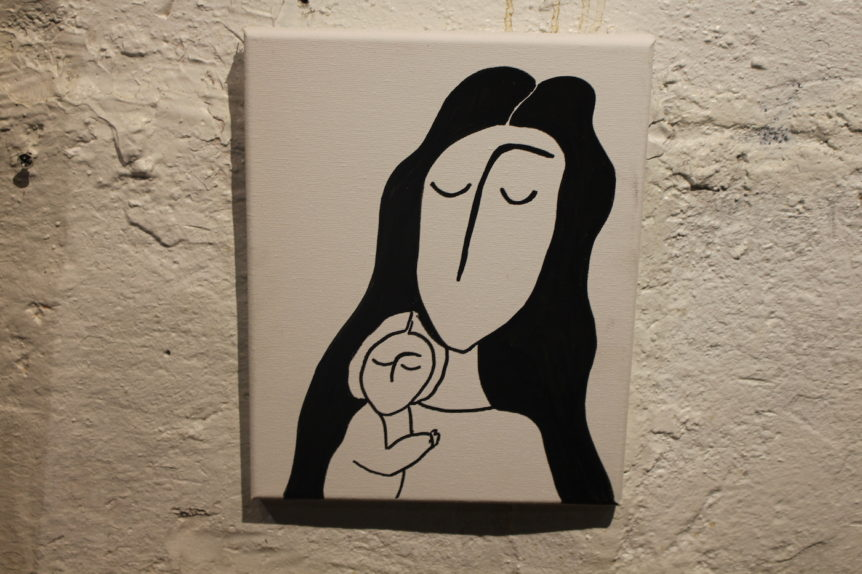 woman and baby Judaica Art Gallery Brooklyn