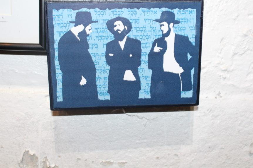 three jewish men Judaica Art Gallery Brooklyn