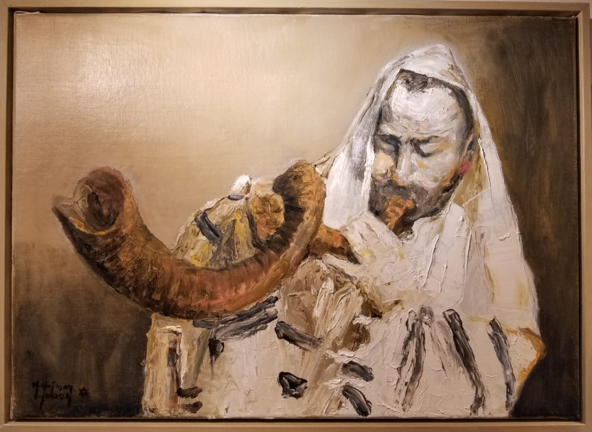 """Baal Tokeah"" by Martha Hoffman, oil on canvas, 27x19"
