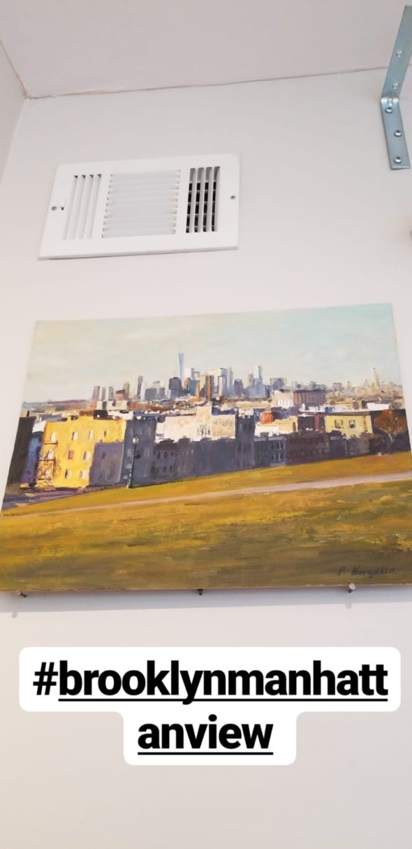 Brooklyn Manhattan view painting Leviim art gallery