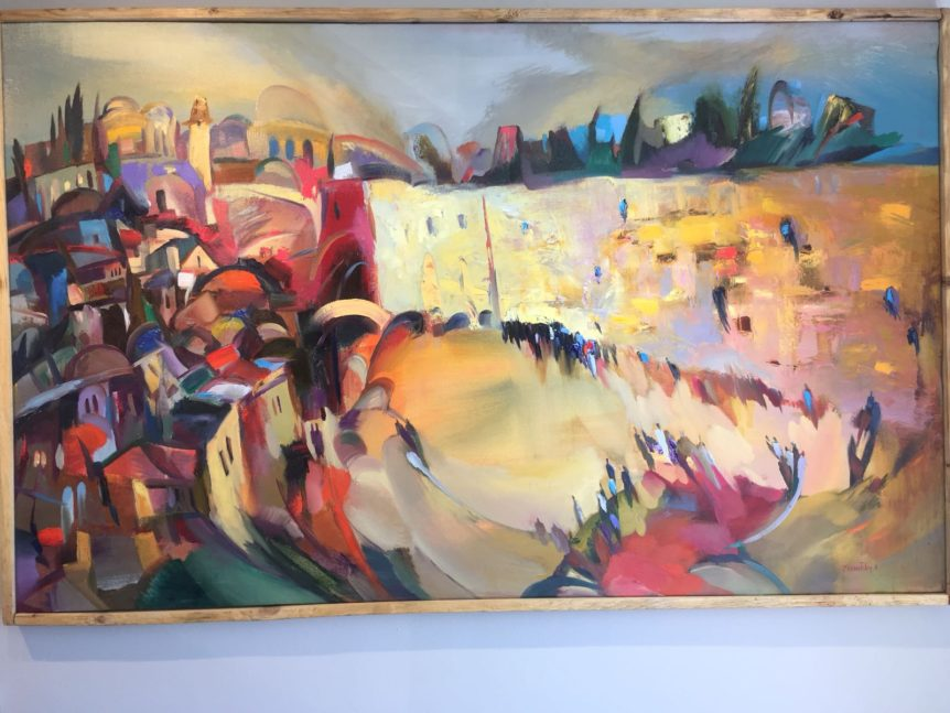 Anna Zarnitsky Western wall painting jewish art manhattan
