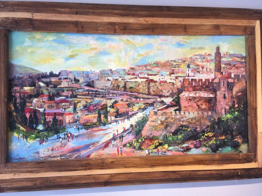 Anna Zarnitsky Jerusalem King Davids Tower Oil jewish art manhattan