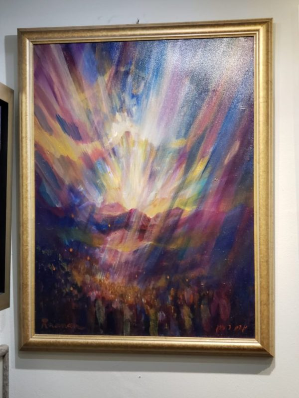 """Mount Sinai"", by Yoram Raanan, oil on canvas"