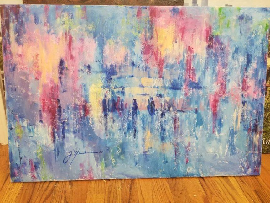 """Western Wall"" by Yoel Glick 36x24 oil on canvas"