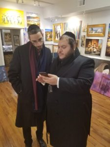 Simche Friedman and Levy Falkowitz at the leviim gallery