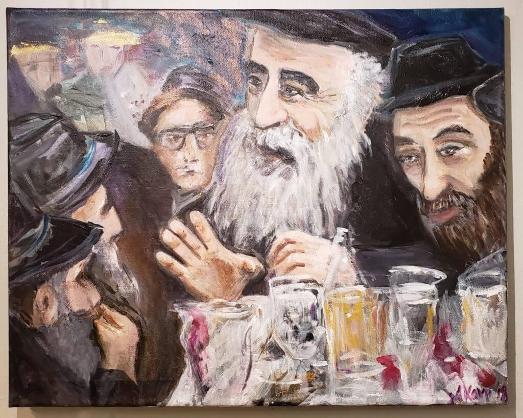 Mendel Futerfas by Miriam Karp Jewish Art
